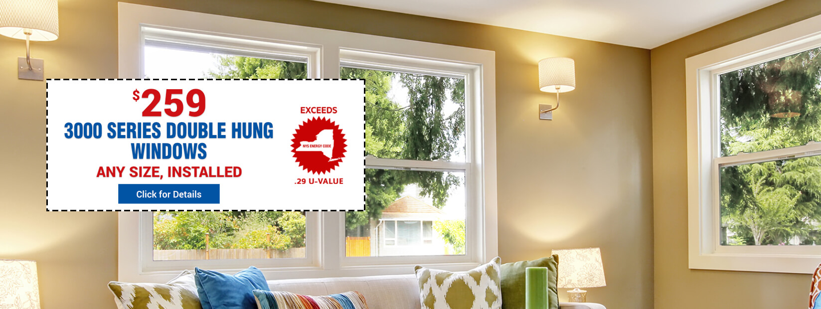 3000 Series Double Hung Windows at $259