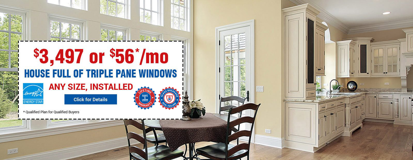 Triple Pane Windows at $3497